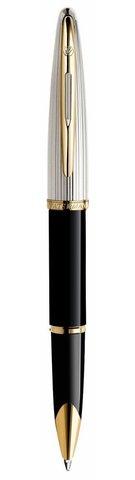 Ручка-роллер Waterman Carene De Luxe, цвет: Black/Silver, стержень: Fblk