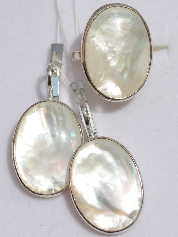 Сабина (кольцо + серьги из серебра)