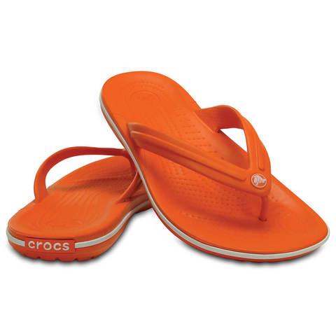 Шлепанцы Crocs Crocband Flip Оранжевые