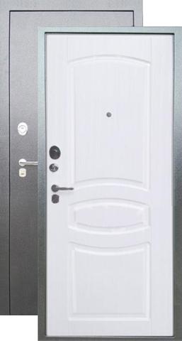 Сейф-дверь входная Аргус Люкс ДА-61, 2 замка, 2 мм  металл, (серебро антик+ясень белый)
