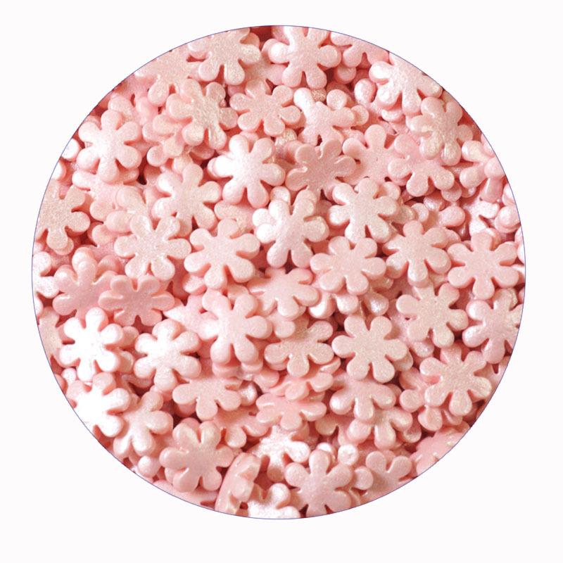 Посыпка кондитерская  «Снежинки розовые», 30г