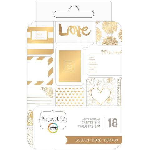 """Набор карточек """"Golden"""" для Project life 18 шт"""