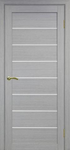 Дверь Optima Porte Турин 508.12, стекло матовое, цвет дуб серый, остекленная