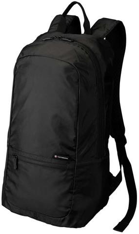 Качественный прочный складной рюкзак чёрный объёмом 16 л из полиэстера 150D VICTORINOX 31374801