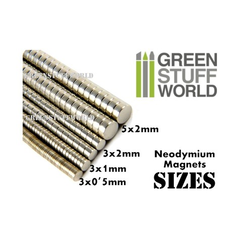 Neodymium Magnets 5x2mm - SET x50 (N52)