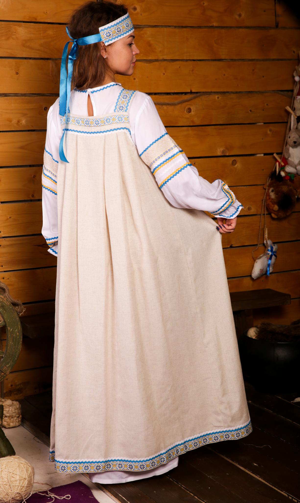 русский народный костюм Иванка от Костюм Шоу вид сзади