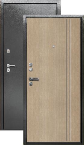 Сейф-дверь входная Берлога СК-2В, 2 замка, 1,7 мм  металл, (серебро антик+беленый дуб)