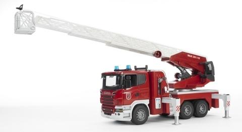 Bruder: Пожарная машина Scania с выдвижной лестницей и помпой, 03-590