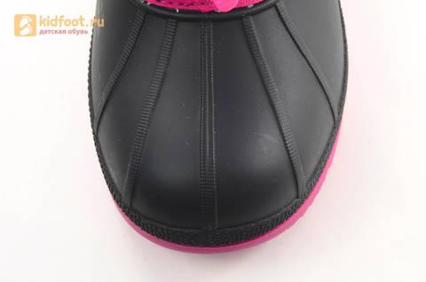 Зимние сапоги для девочек непромокаемые с резиновой галошей Свинка Пеппа (Peppa Pig), цвет фуксия, Water Resistant. Изображение 10 из 16.