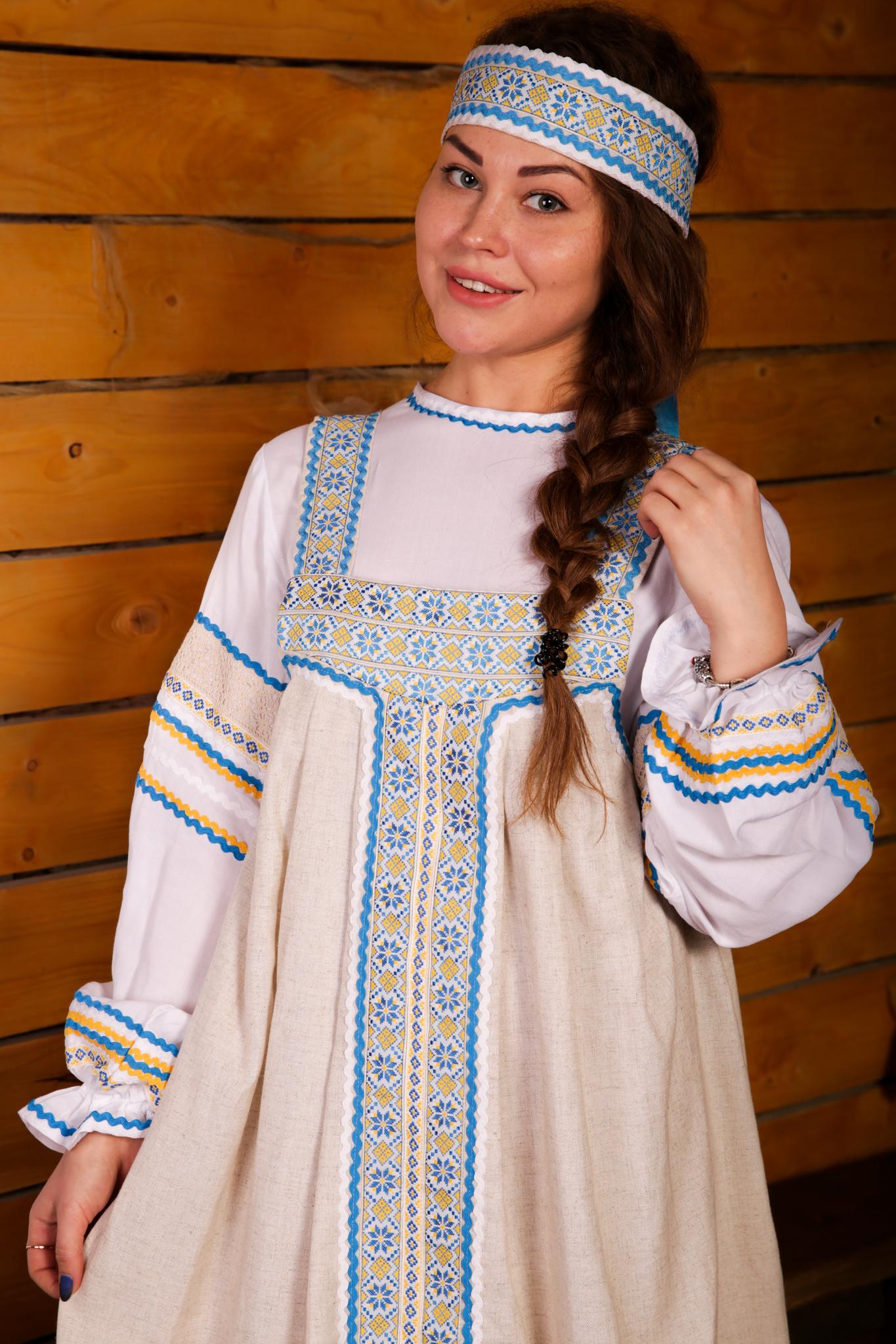 русский народный костюм Иванка от Костюм Шоу приближенный фрагмент