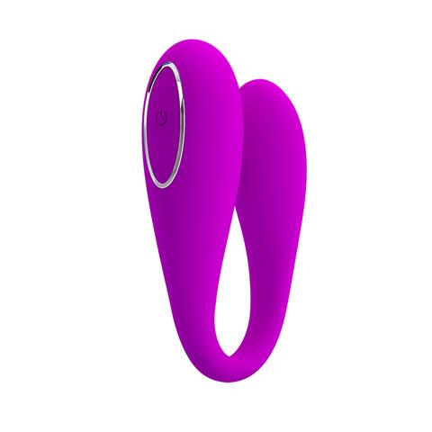 Вибромассажер-скобка для пар PrettyLove August c управлением через смартфон фото