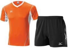 Мужская волейбольная форма Mizuno Premium (V2EA4501M 54-V2EB4501M 09) оранжевая