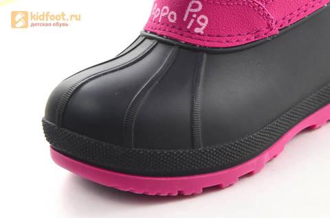 Зимние сапоги для девочек непромокаемые с резиновой галошей Свинка Пеппа (Peppa Pig), цвет фуксия, Water Resistant. Изображение 11 из 16.
