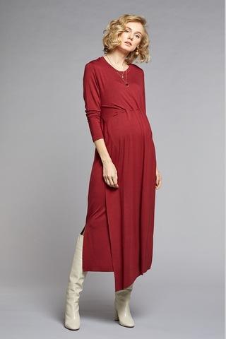 Платье для беременных и кормящих 10770 бордовый