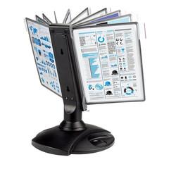 Демо-система MEGA Office FDS008 настольная вращ. пластик 10 пан.,черный