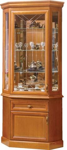 Шкаф с витриной угловой Олимпия
