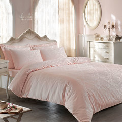 Постельное белье BAMBURA  розовый жаккард deluxe TIVOLYO HOME Турция