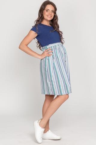 Платье для беременных и кормящих 10741 индиго