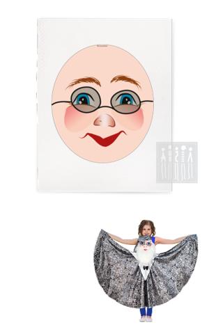 Фото Платковая кукла / Звездочет (лицо) рисунок Ткани и Наборы для пошива