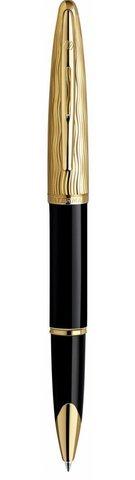 Ручка-роллер Waterman Carene Essential, цвет: Black GT, стержень: Fblack
