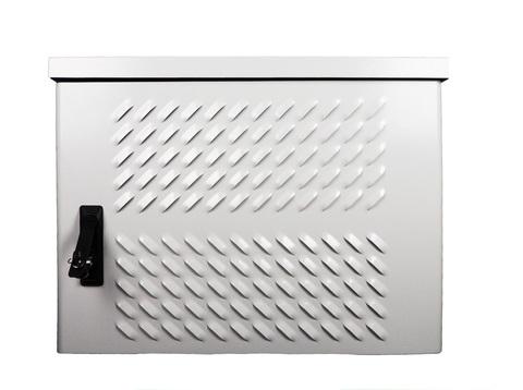 Шкаф ЦМО уличный всепогодный настенный 9U (Ш600 × Г300), передняя дверь вентилируемая ШТВ-Н-9.6.3-4ААА