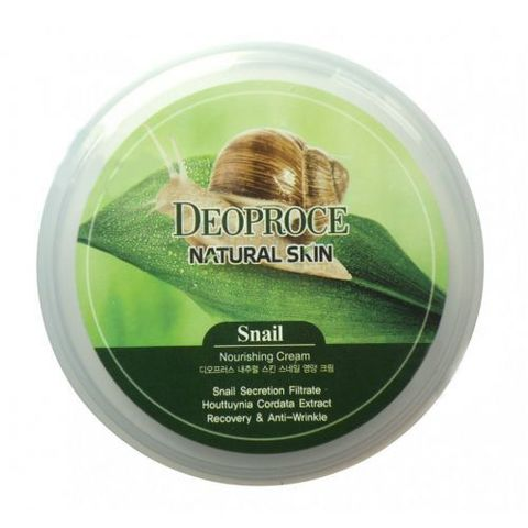 DEOPROCE NATURAL SKIN Крем для лица и тела с улиточным экстрактом  DEOPROCE NATURAL SKIN SNAIL NOURISHING CREAM 100G 100гр