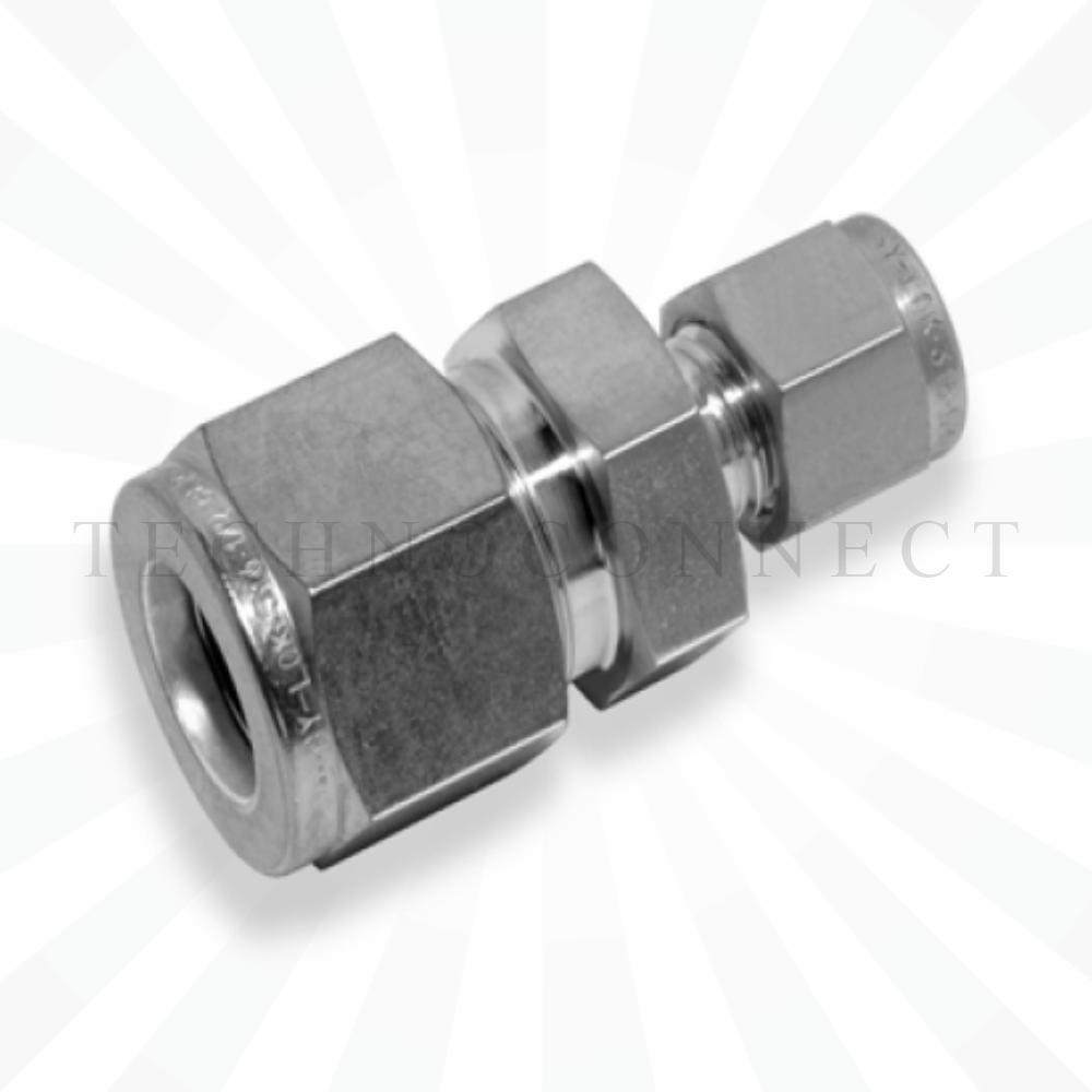 CUR-10M-4  Переходник: метрическая трубка  10 мм - дюймовая трубка  1/4