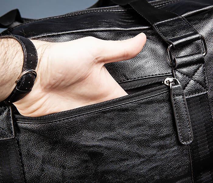 BAG544 Мужская дорожная сумка с ремнем на плечо фото 08