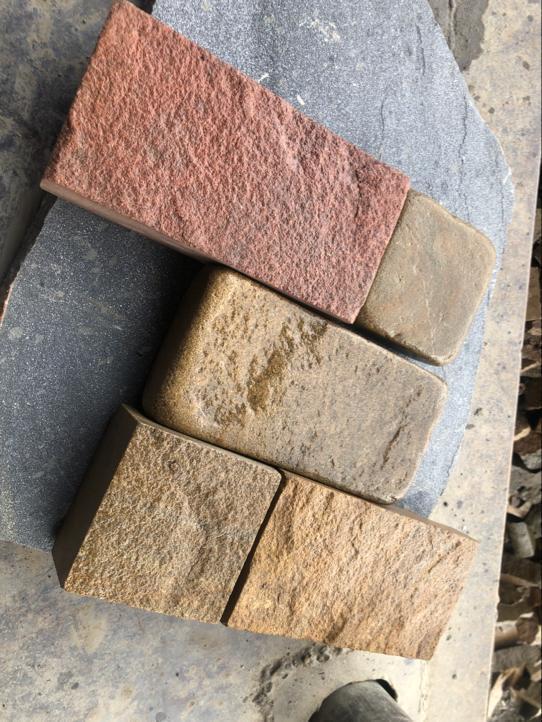 Брусчатка песчаник пиленный Сосна образец