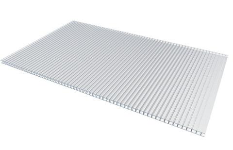Сотовый поликарбонат 4 мм прозрачный Polyplast 2.1х6 м