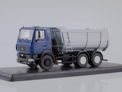 MAZ-6501 tipper U-shaped body blue-gray 1:43 Start Scale Models (SSM)