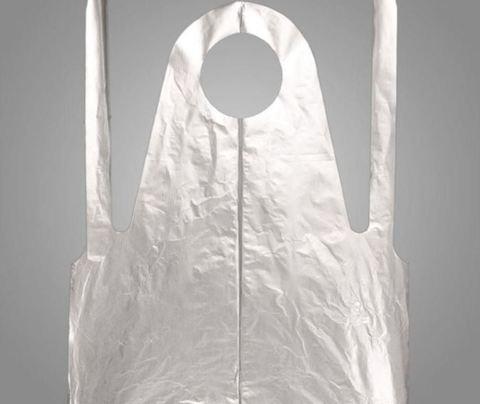 Фартук полиэтиленовый серебристый 120х70 см 25 шт/упк