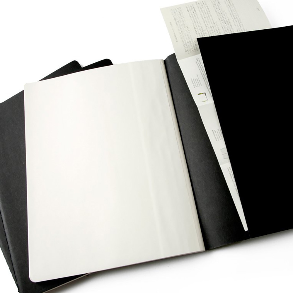 Набор 3 блокнота Moleskine Cahier Journal XL, цвет черный, в линейку