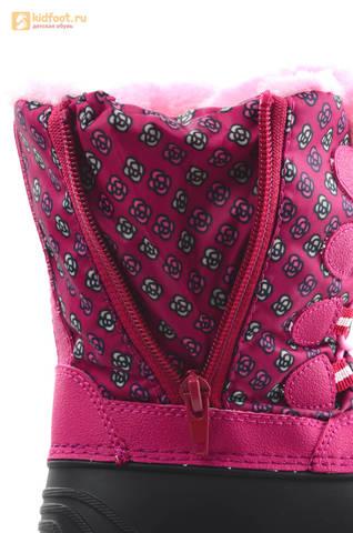 Зимние сапоги для девочек непромокаемые с резиновой галошей Свинка Пеппа (Peppa Pig), цвет фуксия, Water Resistant. Изображение 15 из 16.