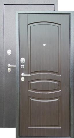 Сейф-дверь входная Аргус Люкс ДА-61, 2 замка, 2 мм  металл, (серебро антик+венге тисненый)