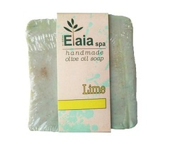 Греческое мыло ручной работы Лайм Elaia spa 100 гр.