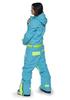 Женский утепленный сноубордический комбинезон Cool Zone Fox 3412 бирюза фото