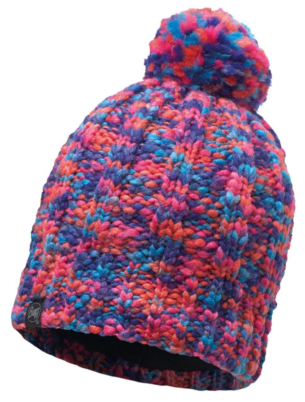 Шапки крупной вязки Вязаная шапка с флисовой подкладкой Buff Livy Orange 116021.204.10.00.jpg