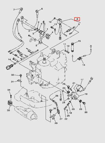 Выпрямитель в сборе для лодочного мотора T40 Sea-PRO (10-8)