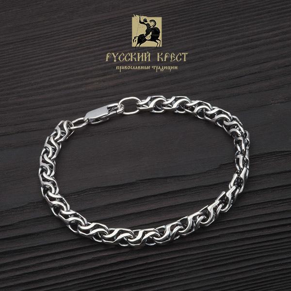 Браслет из серебра женский Волна