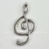 """Подвеска """"Скрипичный ключ"""" (цвет - античное серебро) 24х12 мм"""