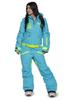 Утепленный сноубордический комбинезон для девушек Cool Zone Fox 3412 бирюза