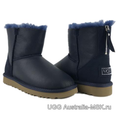 UGG Zip Mini Metallic Navy