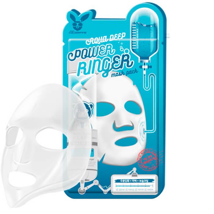 Elizavecca Тканевая маска д/лица Увлажняющая AQUA  DEEP POWER Ringer mask, 23мл