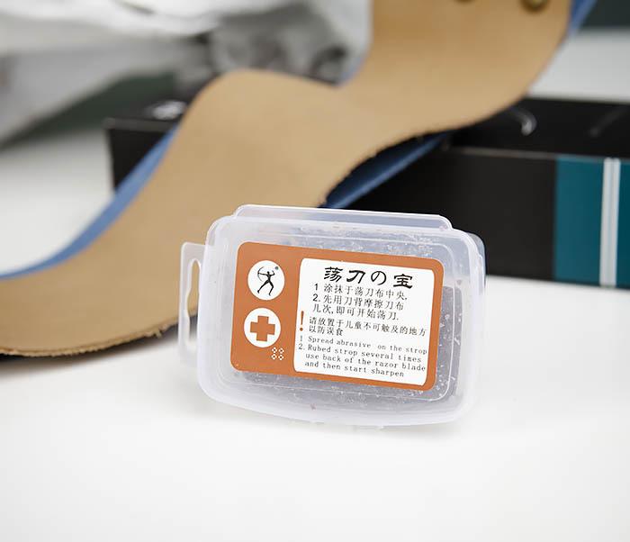RAZ444 Двухсторонний ремень для правки опасной бритвы (кожа и ткань) фото 06