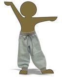 Брюки хлопковые - Демонстрационный образец. Одежда для кукол, пупсов и мягких игрушек.