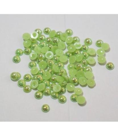 114 стразы круглые зеленые 100 шт