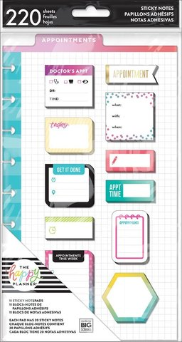 Закладки-стикеры Create 365 Happy Planner Sticky Notes  -Appointments -220шт
