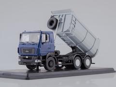 MAZ-6501 tipper U-shaped body blue-gray 1:43 Start Scale Models (SSM)