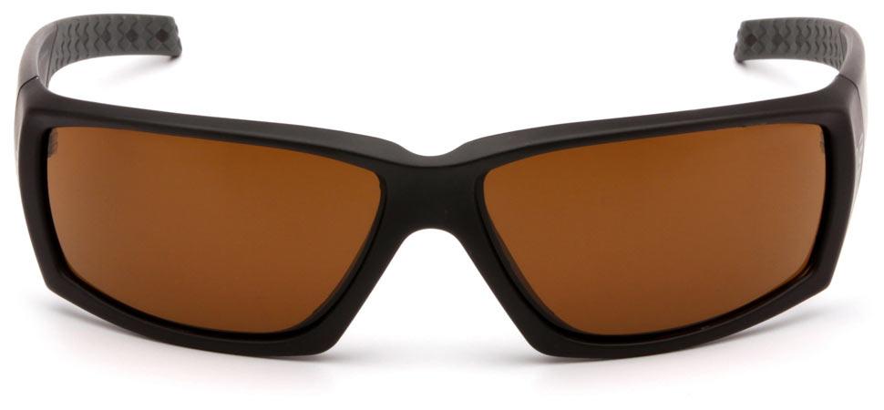 Очки баллистические стрелковые Pyramex Overwatch VGSB718T Anti-fog коричневые 23%